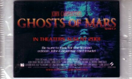 Ghosts of Mars movie 2001 Series 2 promo card set