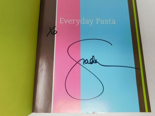 Giada De Laurentiis autographed Everyday Pasta hardcover cookbook