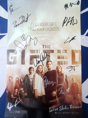 Gifted cast autographed 2017 Comic-Con poster Amy Acker Stephen Moyer