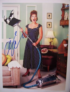Gillian Anderson autographed 11x14 book photo (as Lucille Ball)