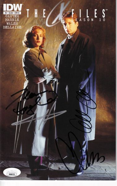 Gillian Anderson Chris Carter Dean Haglund autographed X-Files Season 10 comic book (JSA)