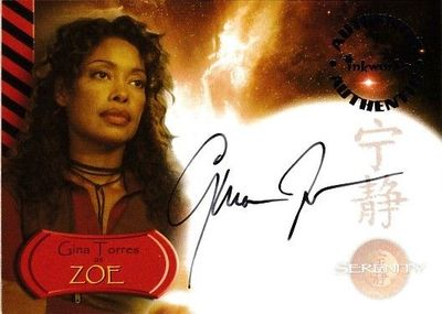 Gina Torres certified autograph Serenity (Firefly) 2005 Inkworks card A2