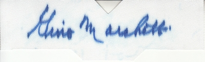 Gino Marchetti autographed cut jersey number
