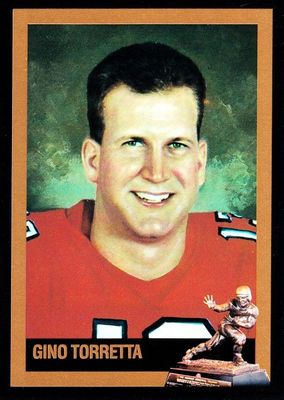 Gino Torretta Miami Hurricanes 1992 Heisman Trophy winner card