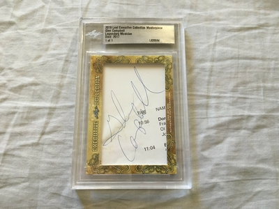 Glen Campbell 2018 Leaf Masterpiece Cut Signature certified autograph card 1/1 JSA