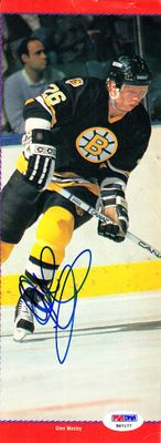 Glen Wesley autographed Boston Bruins magazine photo (PSA/DNA)