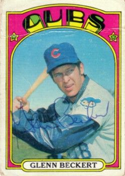 Glenn Beckert autographed Chicago Cubs 1972 Topps card
