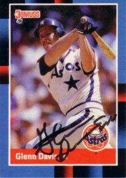Glenn Davis autographed Houston Astros 1988 Donruss card