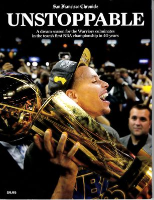 Golden State Warriors 2014-15 NBA Champions UNSTOPPABLE San Francisco Chronicle commemorative magazine (Steph Curry)