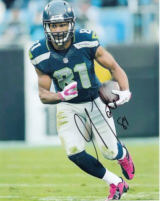 Golden Tate autographed Seattle Seahawks 8x10 photo