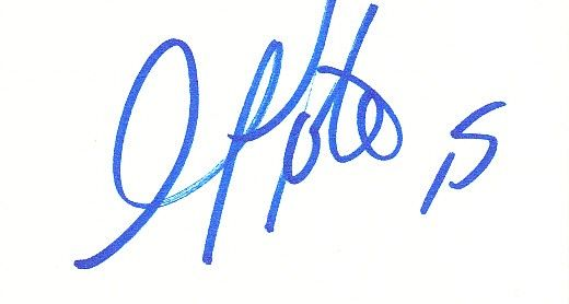Golden Tate autographed blank back of business card