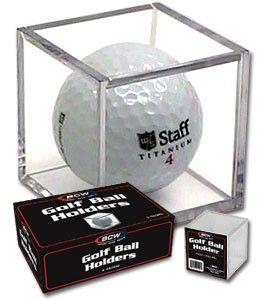 Golf ball plastic cube display case holders (box of 6)