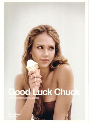 Good Luck Chuck Jessica Alba 5x7 Comic-Con promo card