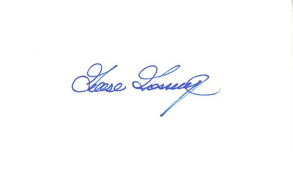 Goose Gossage autographed 3x5 inch index card