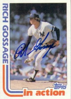 Goose Gossage autographed New York Yankees 1982 Topps In Action card