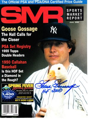 Goose Gossage autographed New York Yankees magazine cover