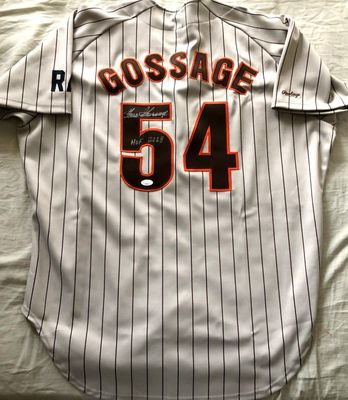 Goose Gossage autographed San Diego Padres authentic 1985 1986 1987 Rawlings game model jersey JSA
