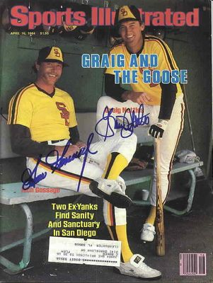 Goose Gossage and Graig Nettles autographed San Diego Padres 1984 Sports Illustrated magazine