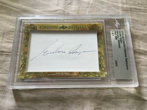 Gordon Cooper 2018 Leaf Masterpiece Cut Signature certified autograph card 1/1 JSA Mercury 7
