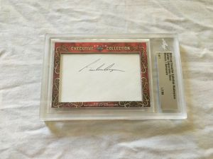 Gordon Cooper and John Glenn 2018 Leaf Masterpiece Cut Signature certified autograph card 1/1 JSA