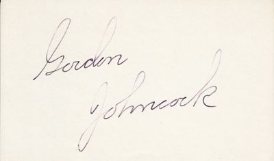 Gordon Johncock autographed index card