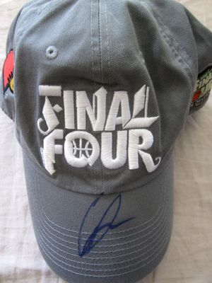 Gorgui Dieng autographed Louisville Cardinals 2012 NCAA Final Four cap or hat