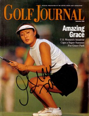Grace Park autographed 1998 U.S. Women's Amateur USGA Golf Journal magazine