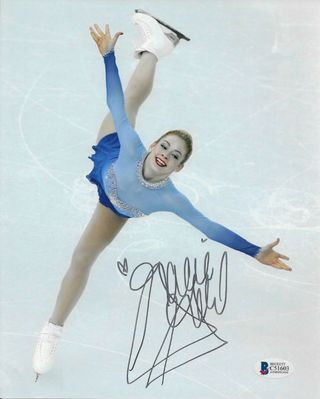 Gracie Gold autographed 8x10 skating photo (BAS authenticated)