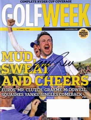 Graeme McDowell autographed 2010 Ryder Cup Golfweek magazine