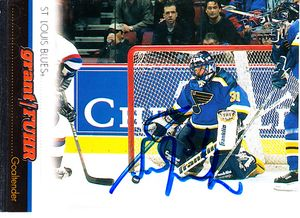 Grant Fuhr autographed St. Louis Blues 1999-2000 Pacific hockey card