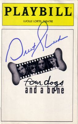 Grant Shaud autographed Four Dogs and a Bone Playbill program