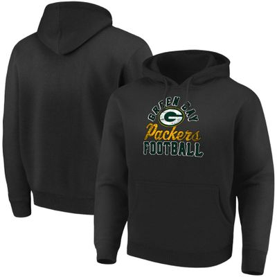 Green Bay Packers Majestic black heavyweight hoodie or hooded sweatshirt BRAND NEW WITH TAGS