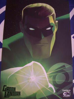Green Lantern Animated 2011 Comic-Con promo poster MINT