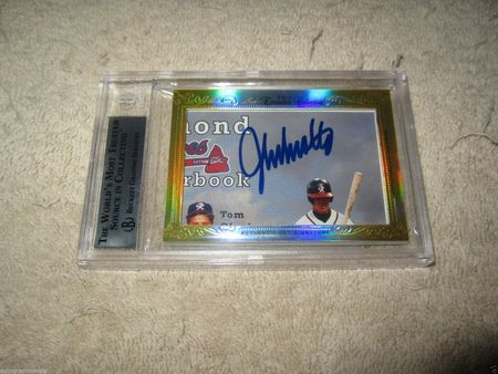 Greg Maddux and John Smoltz 2014 Leaf Masterpiece Cut Signature certified autograph card 1/1 JSA
