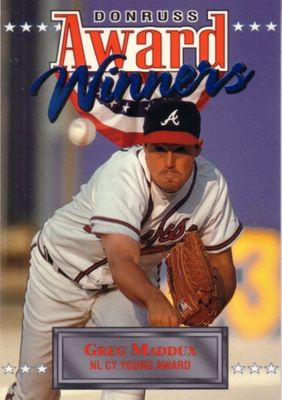 Greg Maddux Atlanta Braves 1994 Donruss Award Winners jumbo insert card (#/10000)