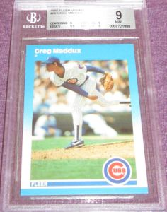 Greg Maddux Chicago Cubs 1987 Fleer Update Rookie Card #68 BGS 9 MINT