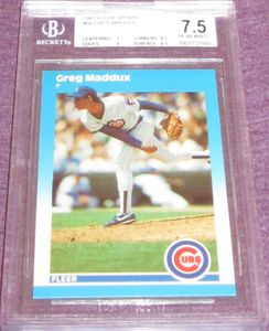 Greg Maddux Chicago Cubs 1987 Fleer Update Rookie Card #68 BGS graded 7.5