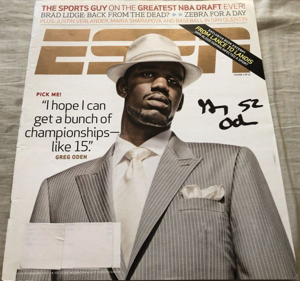 Greg Oden autographed 2007 ESPN Magazine cover