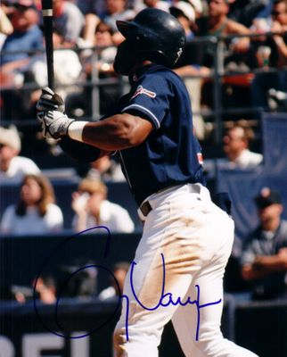 Greg Vaughn autographed 8x10 San Diego Padres photo
