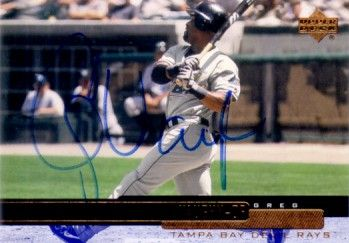 Greg Vaughn autographed Tampa Bay Devil Rays 2000 Upper Deck card