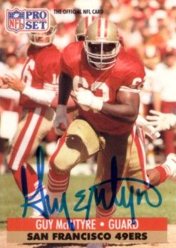 Guy McIntyre autographed San Francisco 49ers 1991 Pro Set card