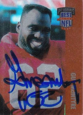 Guy McIntyre autographed San Francisco 49ers 1994 Playoff Best of the NFL card