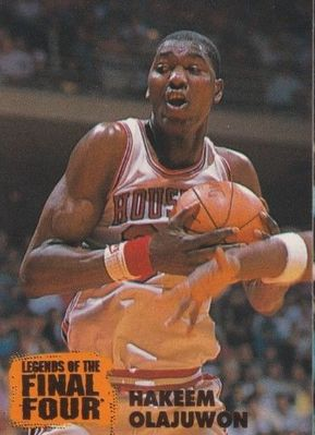 Hakeem Olajuwon Houston Cougars 1996 Classic Legends of the Final Four card