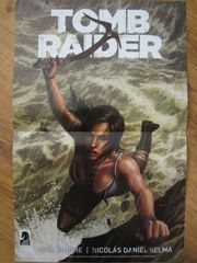 Halo & Tomb Raider 2014 Comic-Con Dark Horse Comics double sided promo poster