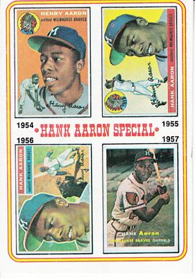Hank Aaron 1974 Topps Special card #2 ExMt to NrMt