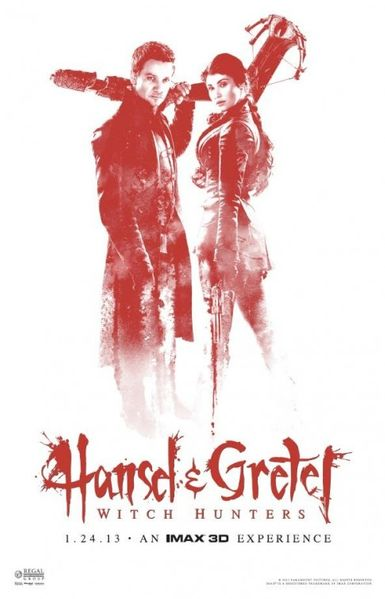 Hansel & Gretel Witch Hunters Regal Cinemas exclusive mini movie poster (Jeremy Renner & Gemma Arterton)