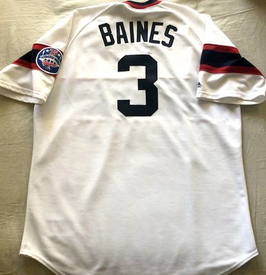 Harold Baines 1985 Chicago White Sox authentic Majestic stitched home white XL jersey