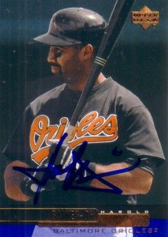 Harold Baines autographed Baltimore Orioles 2000 Upper Deck card