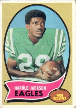 Harold Jackson Eagles 1970 Topps Rookie Card #72 Good