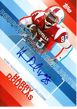 Harry Douglas certified autograph Louisville Cardinals 2008 Topps Rookie Card
